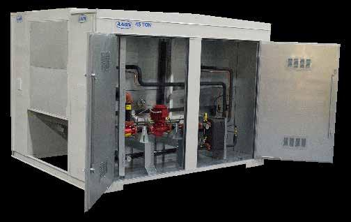 Pumps Constant or variable flow pump systems can be factory installed in the outdoor mechanical room. This saves valuable interior building space by eliminating pumps in the indoor mechanical room.