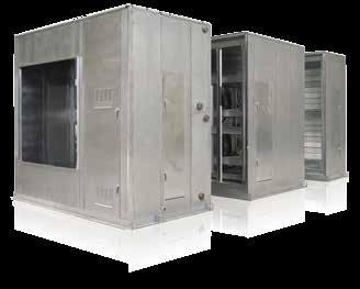 AAON M3, M2, SA, H3/V3, F1, RL, RN & RQ Series Air Handling Units aaon m3 series modular indoor and outdoor air handling units are engineered to handle many difficult applications.