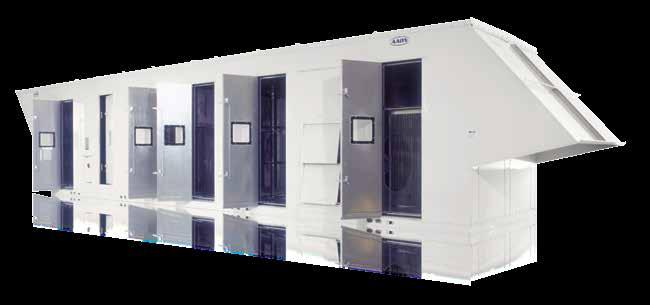 Unit controls are contained within a walk-in service compartment isolated from the air stream for ease of service and quiet operation. Service compartment can be independently heated.
