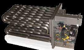 Dimpled heat exchanger provides energy efficient heat transfer and has no internal turbulator, which can corrode over time.