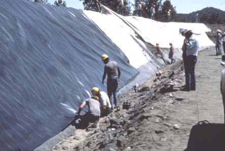 taken 14 years after construction SYMVOULOS DAM, 121 ft (1990) HDPE 3.