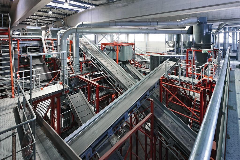 If the materials or a hot surface ignite a spark, the inflamed materials are transported by the conveyor belts and the fire can spread rapidly throughout the whole plant.
