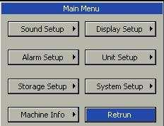 1 2 3 Style of other menus is the same as that of the main menu, parts of which are as follows. 1. Menu title: Name of the menu. 2. Main display area: Area to display options, buttons or prompt messages.