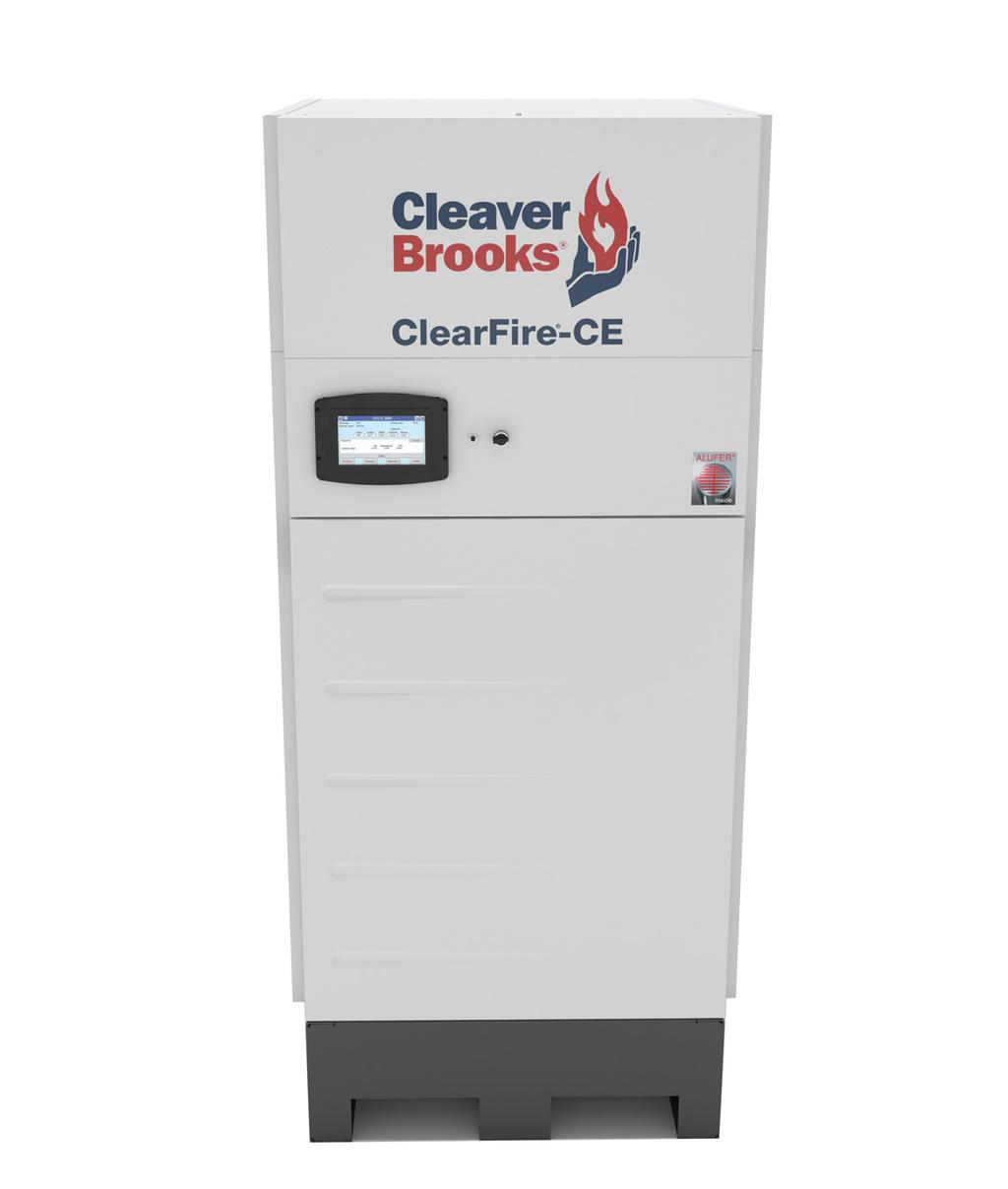 Exceptional Performance with System Engineering Flexibility Boilers The ClearFire -CE condensing boiler leverages the advantages of a primary-variable-flow system in a small footprint, offering