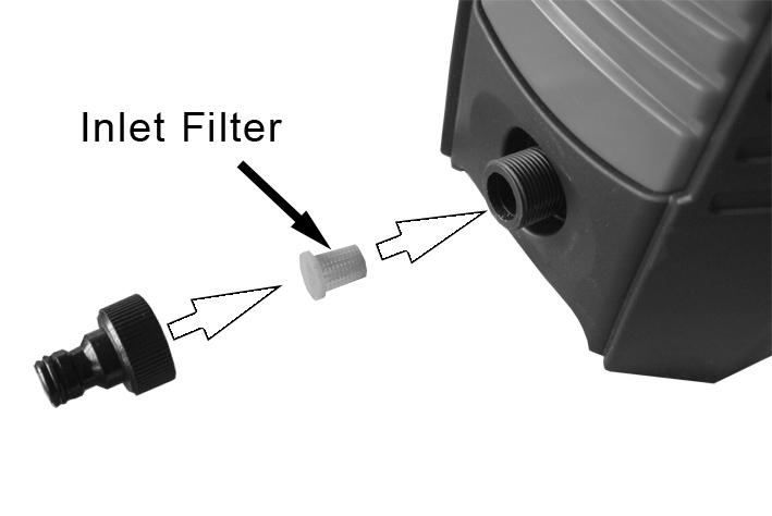 If the nozzle becomes partially clogged or restricted, the pump pressure will pulsate, clean the nozzle immediately by following the instructions below: 1.