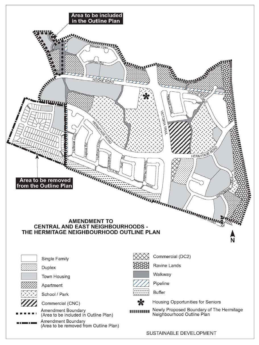 Central and East Neighborhoods Hermitage Outline Plan Map (Resolution,