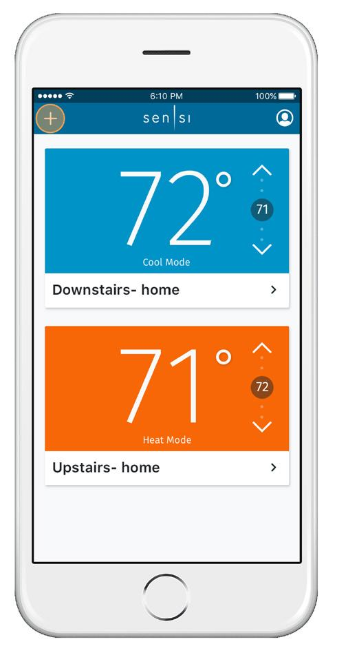 NOTES Accessing your sensi thermostat from other devices When you log into your Sensi account with your email address and password, the app or web page will be able to control all the thermostats