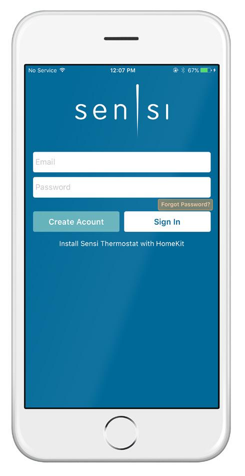 You can change your email address and password from inside the app or when you are logged into your thermostat via the Sensi website. Be aware of this when giving out your information.