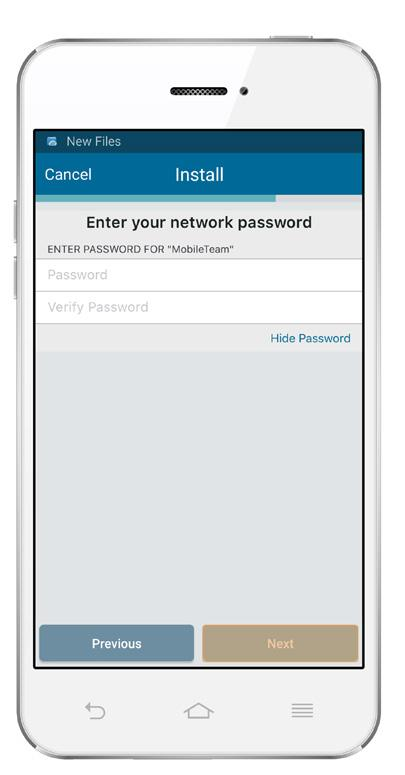 ENTER YOUR NETWORK PASSWORD Type in the password for your home Wi-Fi network.