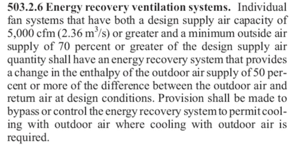 ASHRAE 90.1-2007 Energy Standard for Buildings Exhaust air energy recovery (6.3.