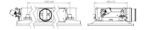 When selecting of the chilled beam orientation, the location of the supply air and water circuit connections are taken into