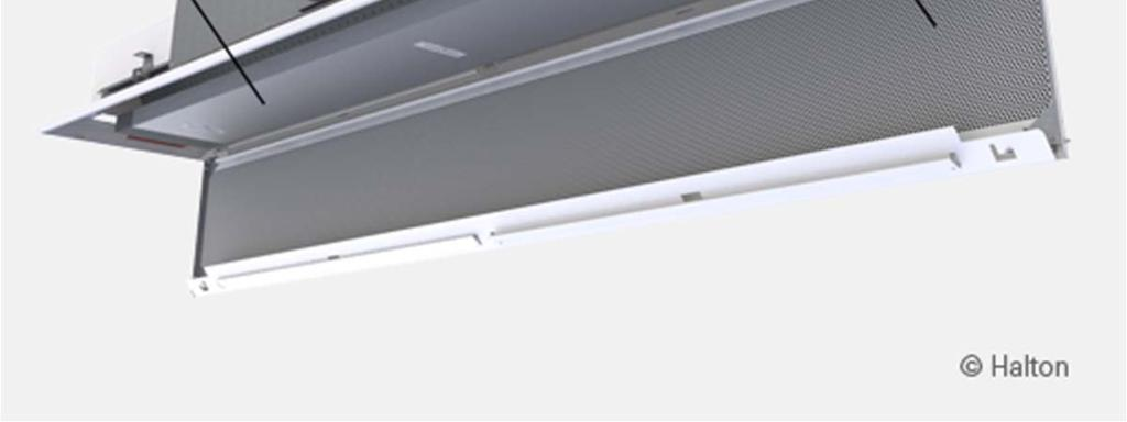 In beams longer than 2400 mm, the front panel can be opened in two sections.