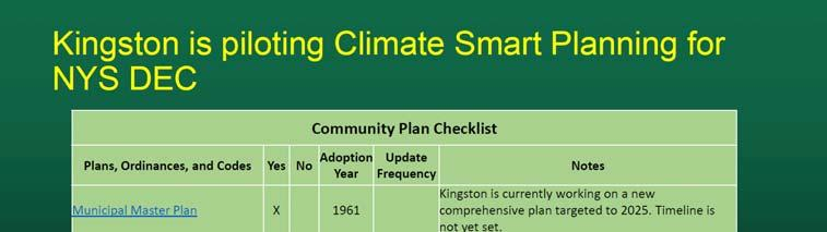 Climate Smart Resiliency Planning THE CITY OF KINGSTON TIDAL WATERFRONT FLOODING TASK FORCE: WATERFRONT