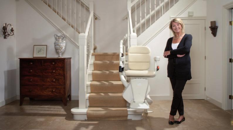 The benefits of an EasyClimber from Handicare It s safe, attractive and even matches my interior My Freelift stairlift from Handicare fits perfectly in my narrow staircase and there is still