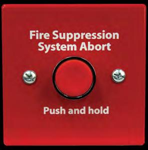 HCVR-AS ABORT SWITCH UL Listed and FM Approved Capable of aborting releasing operation Available in red or gray Includes a back box for surface mount HCVR-AS is a single action push button abort