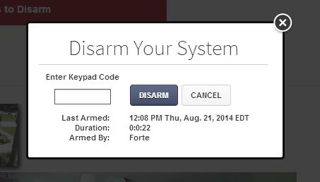 access. Signing In You will need to sign in each time you access the website.. Visit support.mediacomcable.com. To arm a disarmed system:. Click the Security Status when it is in the Disarmed state.