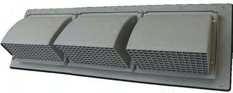 WCD/WCT Double/Triple Intake & Exhaust Vents RRAIN SCREEN HVAC VENTING Wall Caps The Primex Double and Triple intake and exhaust Vents (WCD/WCT) are ideal for exhaust and intake