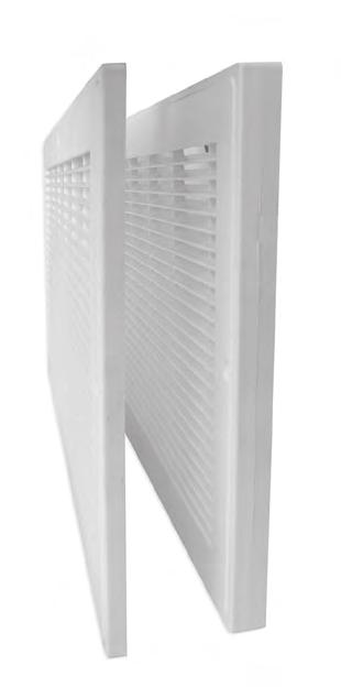 Easy to install, easy to remove and clean, the RG/B Series offers a long-lasting HVAC venting solution in durable polymer resin. Thirteen available sizes in 6, and nine available sizes in 8 heights.