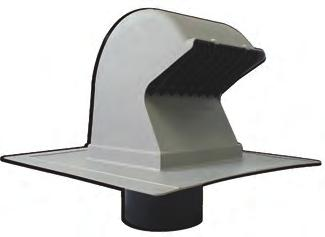 RV28 Goose-Neck Roof Vent HVAC VENTING Roof Vents The Primex Goose-Neck Roof Vent (RV28) is built for the throughroof exhaust of dryers, bathroom and kitchen fans, stove vents, and intake for