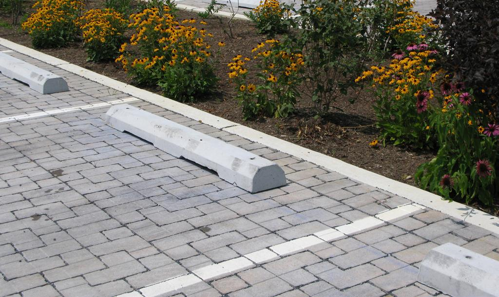 These surface materials can be applied to the entire surface of the lot or just on the parking stalls. Landscaping Landscaping can be used to soften the visual impact of surface parking lots.