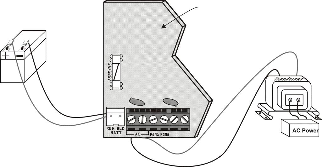 Connecting Fire Circuits and PGMs For 4-wire installation: Program the Activation Event so that the smoke detectors can be reset by pressing the [CLEAR] + [ENTER] keys for three seconds.