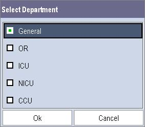 3 Changing Department If the current department configuration is not the one you want to view, you can select [Change Department >>] in the