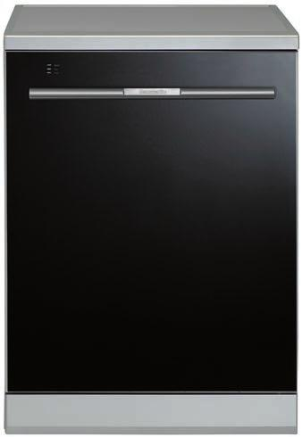 DISHWASHERS 60cm Black Glass Freestanding Dishwasher BSS14 14 place settings 8 wash