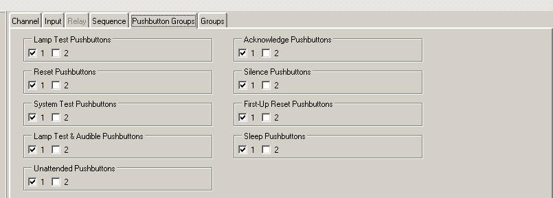 Pushbutton Group Tab Default Settings