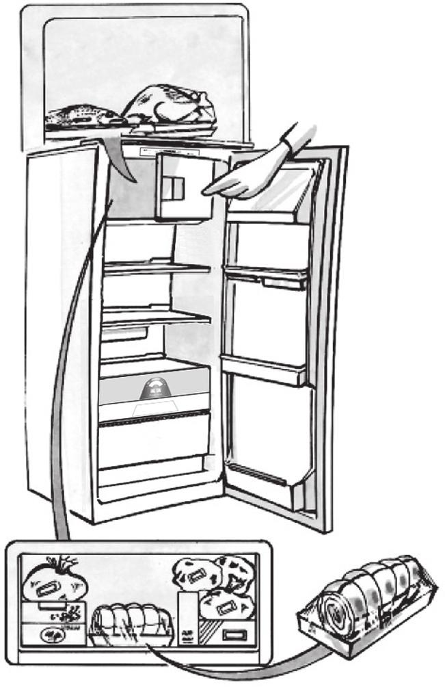 1, if a wire shelf is present, or that in Fig. 2 for models with no wire shelf.