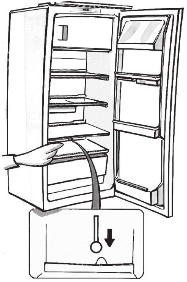 HOW TO DEFROST THE APPLIANCE Before defrosting the appliance, unplug it or switch off the power at the mains. Defrosting of the refrigerator compartment is completely automatic.