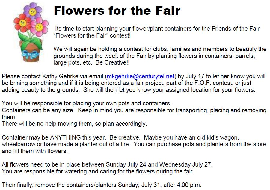 Eau Claire County 4-H Clover Leaves Page 15 Flowers for the