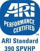 Certified ratings are available on the Air Conditioning, Heating, and Refrigeration Website, www.ahrinet.org.
