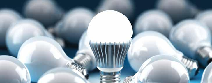 LIGHTING Consider light-emitting diode (LED) bulbs. Switch to ENERGY STAR-qualified LED bulbs. LEDs make more light with less electricity.
