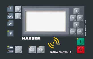 Operating at low speed, KAESER s airends are equipped with flow-optimised rotors for superior