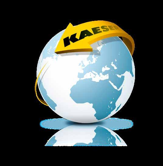 The world is our home As one of the world s largest compressed air system providers and compressor manufacturers, KAESER KOMPRESSOREN is represented throughout the world by a comprehensive network of