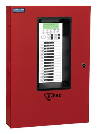 Edwards Signaling atalog u Fire Alarm ontrol Panels E-FS onventional Fire Alarm ontrol Panels Overview The E-FS fire alarm family consists of 3, 5 and 10 zone conventional fire alarm s, an integrated