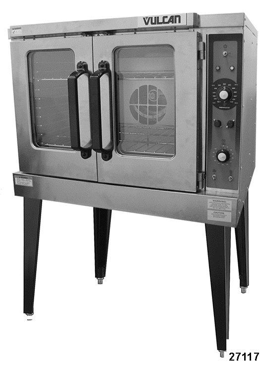 SERVICE MANUAL VC3ED FULL SIZE ELECTRIC CONVECTION OVEN VC3ED ML-137013 - NOTICE - This Manual is prepared for the use of trained Vulcan Service Technicians and should not be used by those not