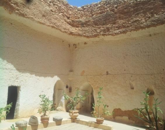 Figure 8.38: The courtyard of Omar Belhaj house in Gharyan. Figure 8.39: The courtyard contains plants and trees in order to freshen the air.