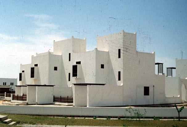 One of his important houses was the Nassif house in Jeddah, presented in Figure 4.21, which represented an opportunity for Fathy to reinterpret the traditional architecture of Saudi Arabia.