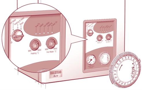 c) Fully open any DHW tap and the ignition sequence will commence. The Hot Water and the Burner On LEDs will be illuminated. If the burner fails to light, ignition lock-out occurs.