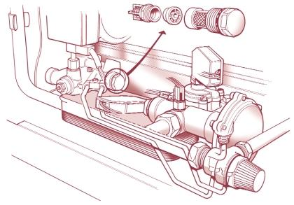 c) Remove carefully the control knob clips holding the control knob in position and pull out the three control knobs from the front of the fascia panel (Fig. 30).