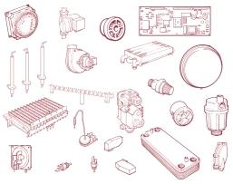 9.19 SYSTEM EXPANSION VESSEL In the unlikely event of failure of the expansion vessel diaphragm it is acceptable to leave the vessel in position and to fit a replacement vessel (of similar or greater