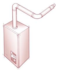 EXTENSION DUCT 2(f) VERTICAL STRAIGHT FLUE VERTICAL COWL EXTENSION DUCT