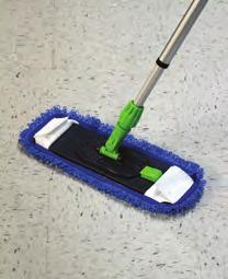 The top Mop or Pad should be loaded with microfiber to prevent