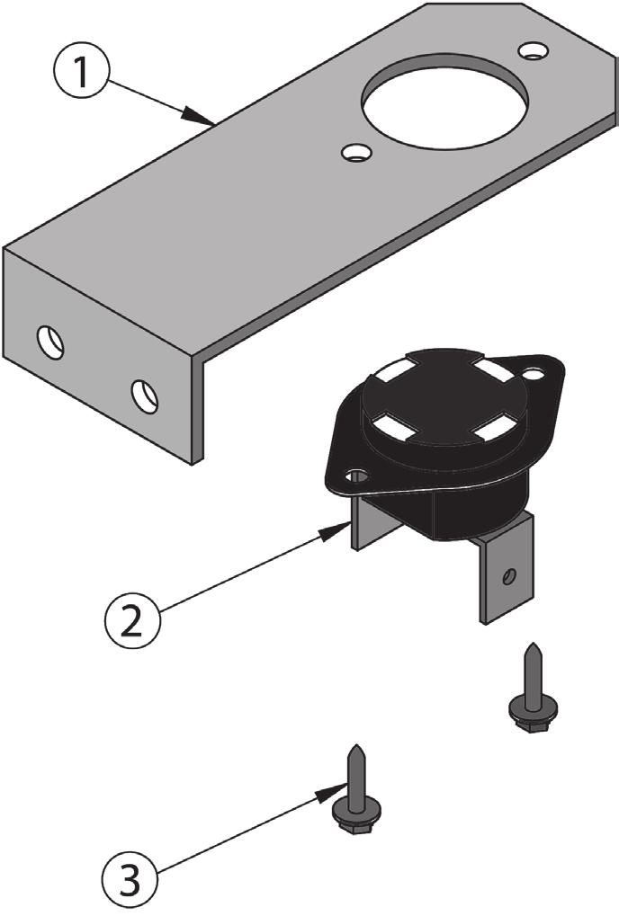 Section Rollout Switch Bracket ROLLOUT/BLOCKED VENT SAFETY SWITCHES Temperature Sensor Bracket ITEM PART NO. DESCRIPTION QTY.* 00, Section Temp. Sensor Bracket 00057 Section Temp.