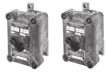 TUMBLER SWITCHES N1 INTRAGROUND SERIES: NON-METALLIC TUMBLER SWITCHES: EXPLOSIONPROOF NON-FACTORY SEALED UL Standard: UL 894, UL 1203 UL Listed: E10523 Class I, Division 1 and 2, Groups C, D NEMA 3R,