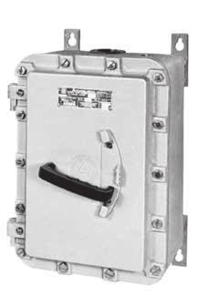 DISCONNECT SWITCHES EDS HEAVY DUTY DISCONNECT SWITCHES: EXPLOSIONPROOF, DUST-IGNITIONPROOF UL Standards: UL 98, UL 1203 UL Listed: E10557 Class I, Division 1 and 2, Groups C, D Class II, Division 1
