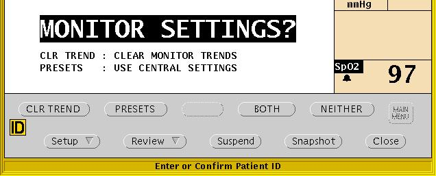 prompt. If you assign another patient s ID number, the Acuity System could combine patients Full Disclosure review information. If the indicated patient is the correct patient, press YES.