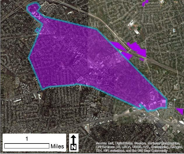 125 Urban Development Areas Falls Church UDA Needs Profile The City of Falls Church, located in the northern part of the Commonwealth, designated its entire city boundaries as an Urban Development
