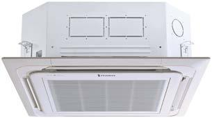 HEAT PUMPS Single Zone Ceiling Cassette 24000 and 36000 Btu. Indoor units are typically installed in a drop ceiling. The unit mounts flush to the ceiling for a clean look and efficient installation.
